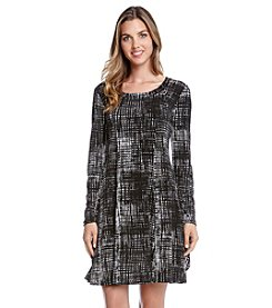 Karen Kane® Printed Long Sleeve Dress