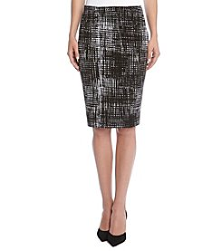 Karen Kane® Printed Pencil Skirt