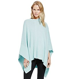 Vince Camuto® Hooded Waffle Stitch Poncho
