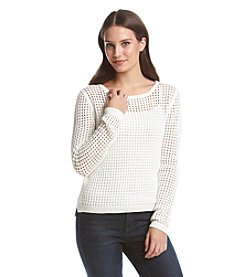 Fever™ Open Weave Pullover Sweater