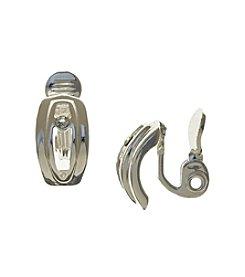 Napier® Silvertone C Hoop Clip Earrings