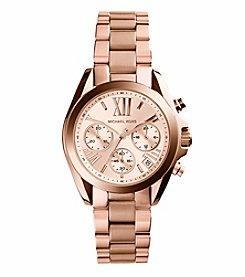 Michael Kors® Women's Rose Goldtone Mini Bradshaw Watch