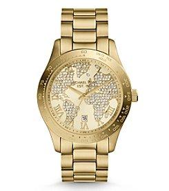 Michael Kors® Women's Goldtone Map Layton Watch