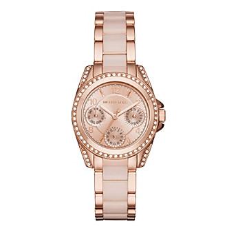 Michael Kors® Women's Rose Goldtone and Blush Mini Blair