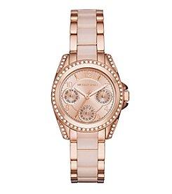 Michael Kors® Women's Rose Goldtone and Blush Mini Blair Watch
