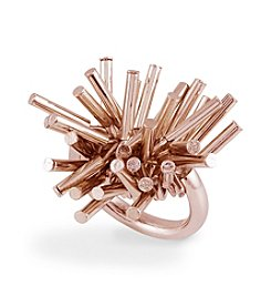 French Connection® Rose Goldtone Tube Fringe Stretch Ring