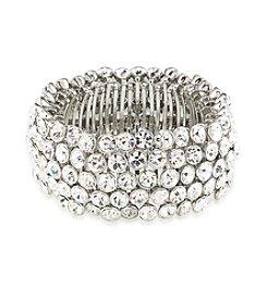 Carolee® Silvertone Broadway Lights Stretch Bracelet