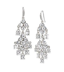 Carolee® Silvertone Broadway Lights Chandelier Pierced Earrings