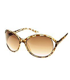 Relativity® Vented Oval With Mini Stones Sunglasses