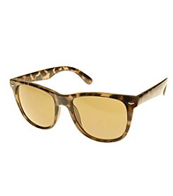 Relativity® Plastic Wayfarer Large Tortoise Sunglasses