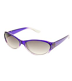 Relativity® Small Oval Fade With Stones Sunglasses