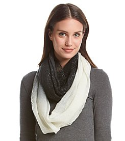 Cejon® Soft Ombre Lurex Ruched Infinity Scarf