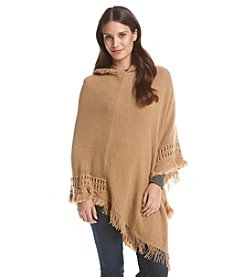 Collection 18 Ladder Stitch Hooded Poncho