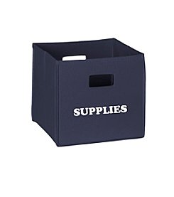 RiverRidge® Kids Navy Folding Storage Bin with Print - Supplies