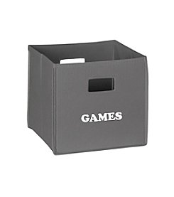 RiverRidge® Kids Grey Folding Storage Bin with Print - Games