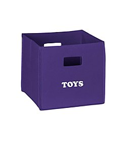 RiverRidge® Kids Dark Purple Folding Storage Bin with Print - Toys
