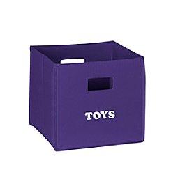 RiverRidge® Kids Dark Purple Folding Storage Bin with Print - Toys