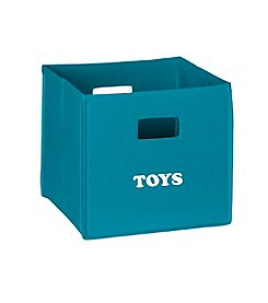 RiverRidge® Kids Turquoise Folding Storage Bin with Print - Toys