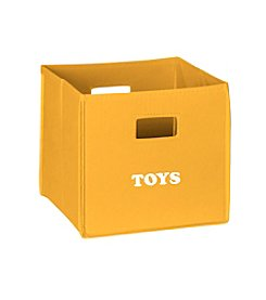 RiverRidge® Kids Golden Yellow Folding Storage Bin with Print - Toys