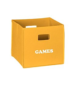 RiverRidge® Kids Golden Yellow Folding Storage Bin with Print - Games