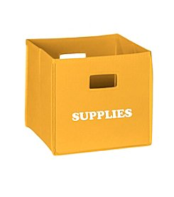 RiverRidge® Kids Golden Yellow Folding Storage Bin with Print - Supplies