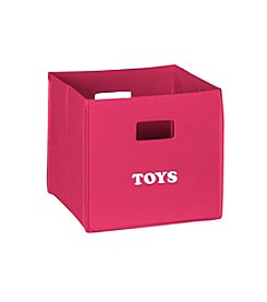 RiverRidge® Kids Hot Pink Folding Storage Bin with Print - Toys