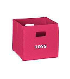 RiverRidge® Kids Hot Pink Folding Storage Bin with Print - Toys