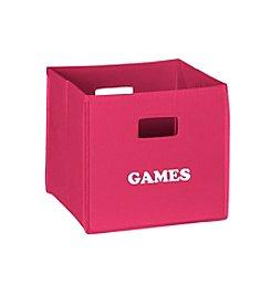 RiverRidge® Kids Hot Pink Folding Storage Bin with Print - Games