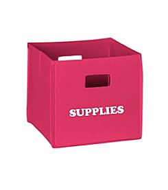 RiverRidge® Kids Hot Pink Folding Storage Bin with Print - Supplies
