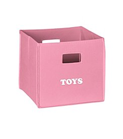 RiverRidge® Kids Pink Folding Storage Bin with Print - Toys
