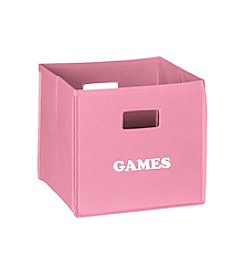 RiverRidge® Kids Pink Folding Storage Bin with Print - Games