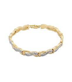 18K Gold-Plated Infinity Diamond Accent 7.25