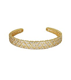 18K Gold-Plated Diamond Accent 7.25