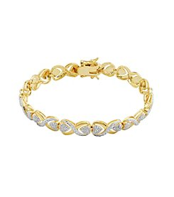 18K Gold-Plated Diamond Accent X Link 7.25