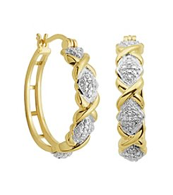 18K Gold-Plated Diamond Accent