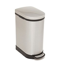 Kamenstein 40L Stainless Steel Space Saver Narrow Trash Can