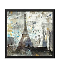 Greenleaf Art Eiffel Tower Framed Canvas Wall Art