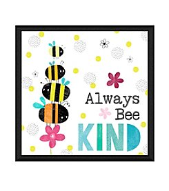 Greenleaf Art Always Bee Kind Framed Canvas Wall Art