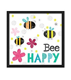 Greenleaf Art Bee Happy I Framed Canvas Wall Art
