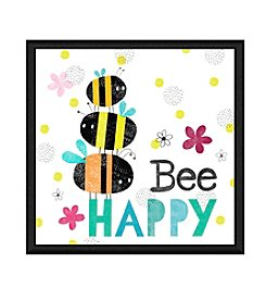 Greenleaf Art Bee Happy II Framed Canvas Wall Art