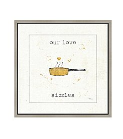 Greenleaf Art Our Love Sizzles Framed Canvas Art