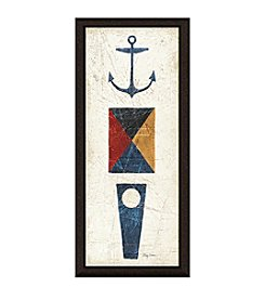 Greenleaf Art Nautical Symbols II Framed Canvas Wall Art