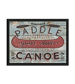 Greenleaf Art Paddle Your Own Canoe Framed Canvas Art