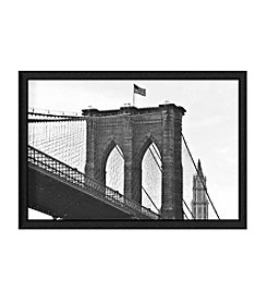 Greenleaf Art Brooklyn Bridge Framed Canvas Wall Art