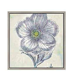Greenleaf Art Blue Flowers II Framed Canvas Art