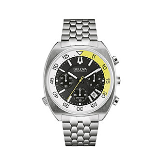 "Bulova Men's Accutron II Black Dial/Stainless Steel Case ""Snorkel"" Chronograph Watch"