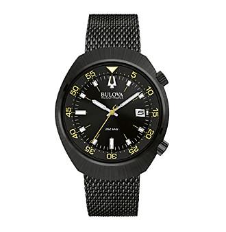 "Bulova Men's Accutron II Black Dial/Yellow Accents ""Lobster"" Chronograph Watch"