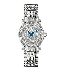 Wittnauer Women's Silvertone Pavé Crystal Bracelet Watch WN4003