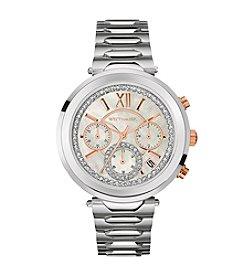 Wittnauer Women's Silvertone Crystal Bezel Bracelet Watch WN4029