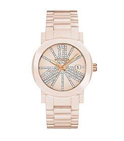 Wittnauer Women's Blush Ceramic Crystal Bracelet Watch WN4071
